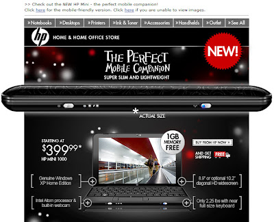 Click to view this Dec. 4, 2008 HP email larger