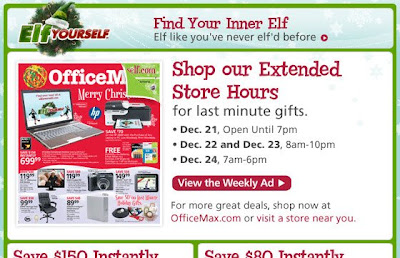 Click to view this Dec. 21, OfficeMax email full-sized