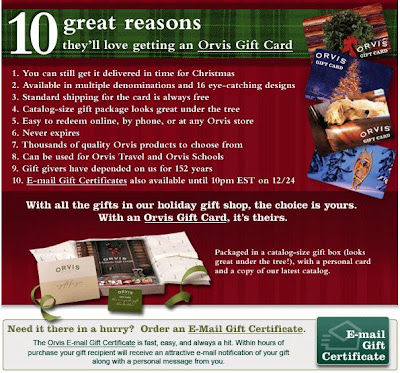 Click to view this Dec. 19, 2008 Orvis email full-sized