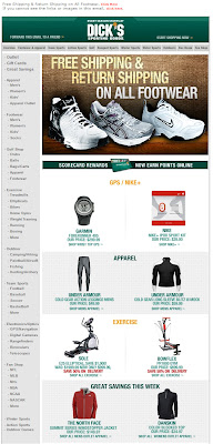 Click to view this Jan. 13, 2009 Dick's Sporting Goods email full-sized