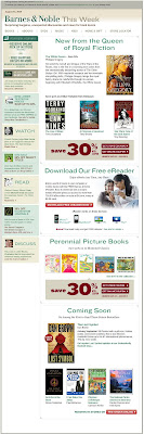 Click to view this Aug. 18, 2009 Barnes & Noble email full-sized
