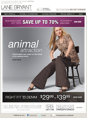 Click to view this Aug. 17, 2009 Lane Bryant email full-sized