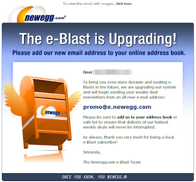Click to view this Sept. 4, 2009 Newegg email full-sized