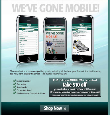 Click to view this Oct. 4, 2009 Dick's Sporting Goods email full-sized