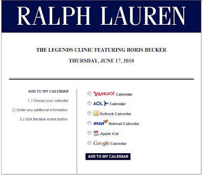Click to view the landing page for the June 11, 2010 Ralph Lauren email full-sized