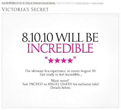 Click to view this Aug. 5, 2010 Victoria's Secret email full-sized
