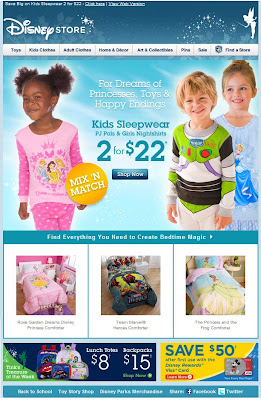 Click to view this Aug. 9, 2010 Disney Store email full-sized