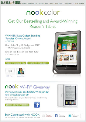Click to view this Jan. 10, 2011 Barnes & Noble email full-sized