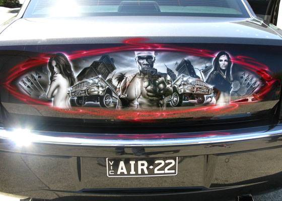 Auto news to day airbrushed cars lowrider airbrush for Airbrushed mural