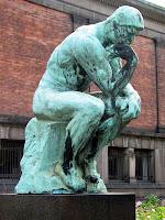 Replica en bronce de la escultura ´Dante Pensando de Auguste Rodin´ conocida como ´El Pensador´