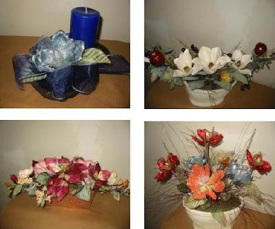 Flores decoraciones manualidades espectaculares - Arreglos navidenos para mesa ...