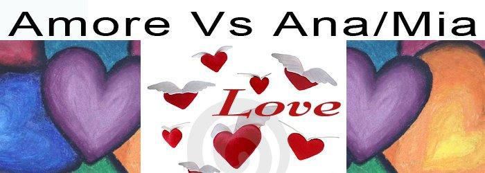 Amore contro anoressia/bulimia. Ana/Mia & Love