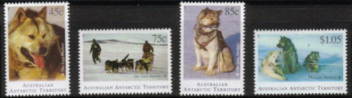 1994年オーストラリア領南極地域 シベリアン・ハスキーの切手