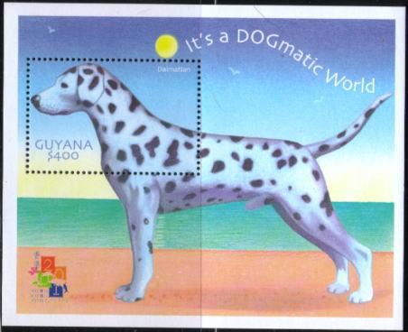 2001年ガイアナ協同共和国 ダルメシアンの切手シート