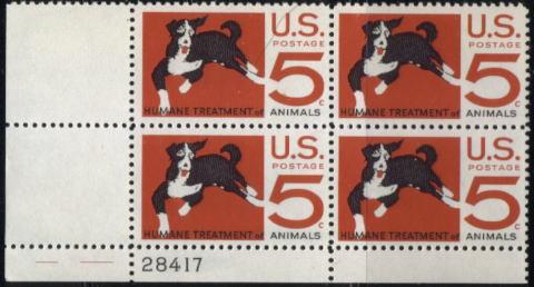 1968年アメリカ合衆国 動物愛護の切手