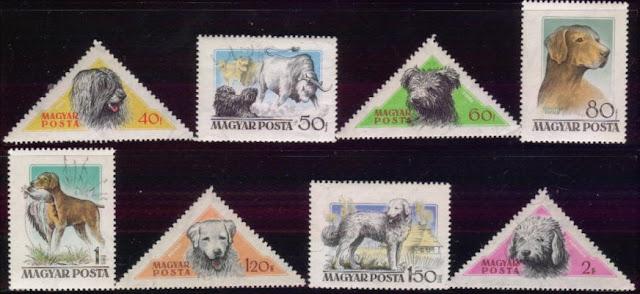 1956年ハンガリー共和国 プーリー プーミー ビズラ クーバース コモンドールの切手