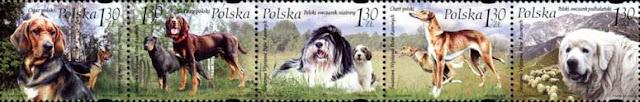 2006年ポーランド共和国 ポリッシュ・ブラッドハウンド ポリッシュ・ハウンド ポリッシュ・ローランド・シープドッグ ポリッシュ・グレイハウンド タトラ・マウンテン・シープドッグの切手