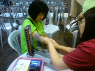 Free blood pressure test by the resident Doctor