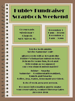 Hubley Fundraiser Scrapbook Weekend