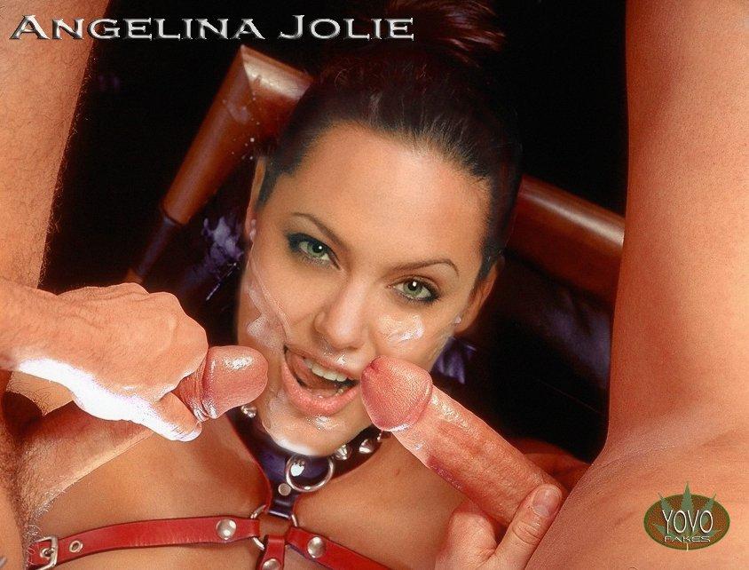 Анжелина Джоли сделав из своей киски верблюжью лапку неистово сосет.