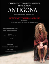 Antigona,narracion en rojo y negro