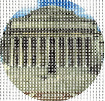 "Columbia University's Low Library on a 4"" round ornament."