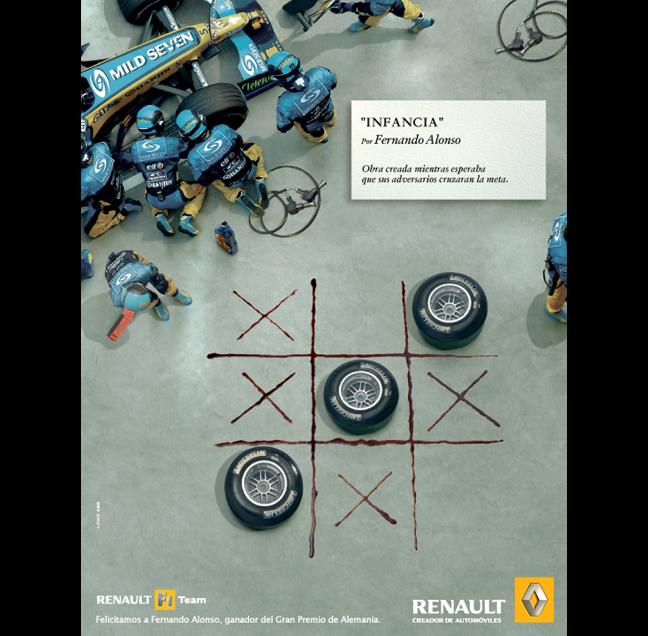 """Infancia"" para Renault F1 Team"