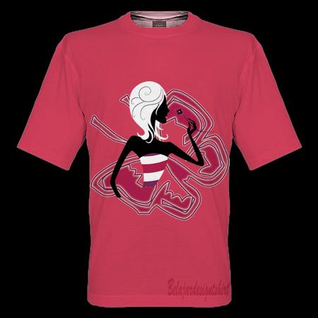 belajar design t-shirt | BUTTERFLY GIRL T-SHIRT DESIGN