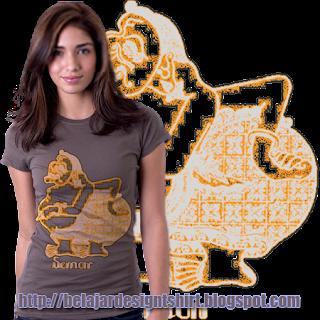 belajar design t-shirt | Wayang semar t-shirt design