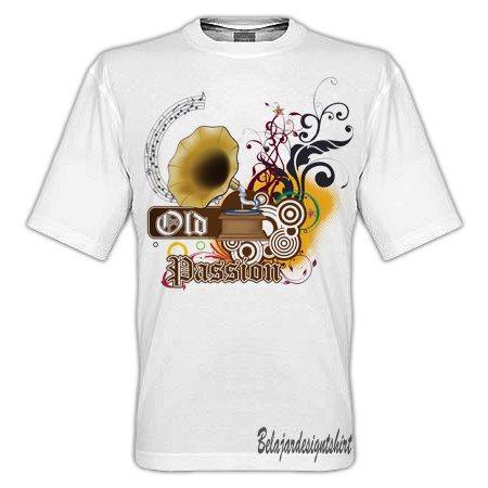 Belajar design t-shirt | Old passion t-shirt design