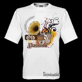 Belajar design t-shirt | Old passion t-shirt design