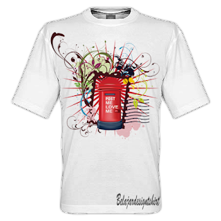 Belajar design t-shirt | Mail post t-shirt design
