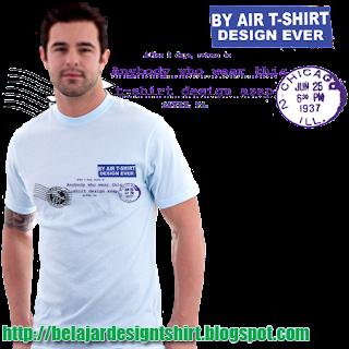 Belajar design t-shirt | Air mail t-shirt design