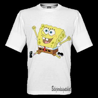 belajar design t-shirt | Sponge bob t-shirt design