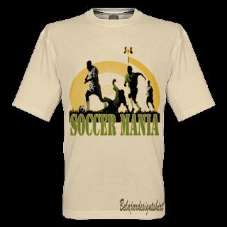 belajar design t-shirt | Soccer mania t-shirt design