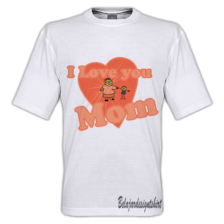 DOWNLOAD KOLEKSI PSD DESAIN KAOS: LOVELY MOM T-SHIRT DESIGN