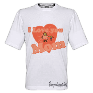 belajar design t-shirt | LOVELY MOM T-SHIRT DESIGN