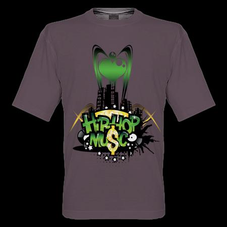 Belajar design t-shirt | HIPHOP MUSIC GENRE T-SHIRT