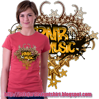 Belajar design t-shirt | RnB MUSIC GENRE T-SHIRT