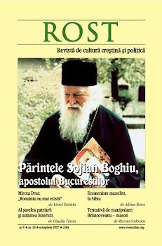 ROST dedicat Părintelui Sofian Boghiu