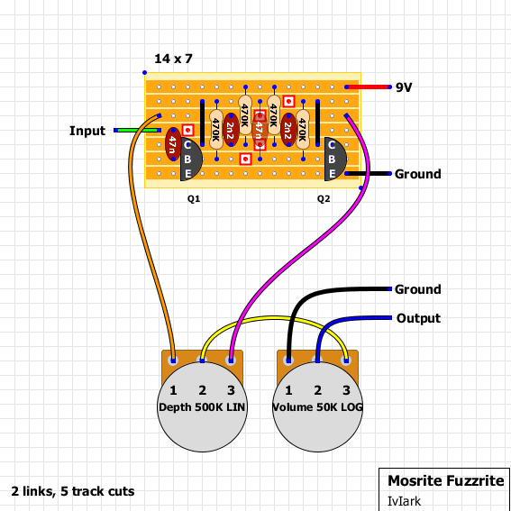 guitar fx layouts mosrite fuzzrite