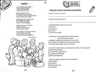 familia: MAIS ATIVIDADES - FAMÍLIA
