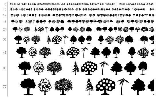 trees  if you please  tree font