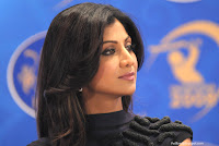 Photos of Shilpa Shetty in a news conference for Rajasthan Royals - 01