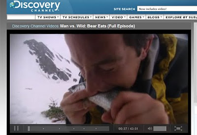 Screenshot of Man vs. wild on discoverychannel.com