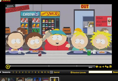 Screenshot of South Park on Southparkstudios.com