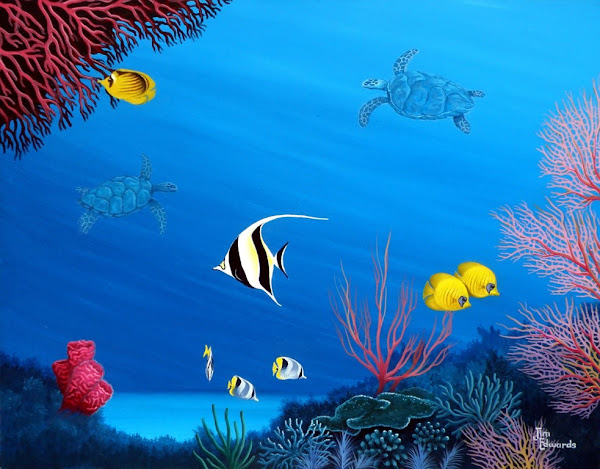 Pacific Fish 22 x 28 (Sold)