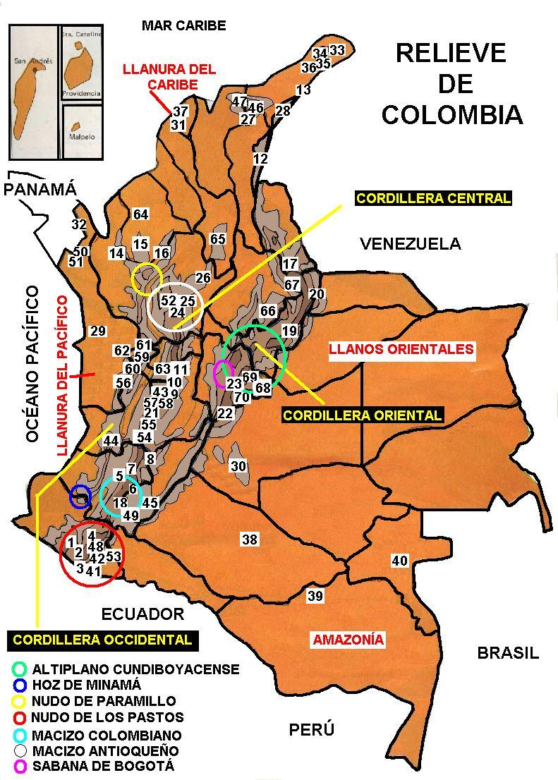 Mi pas Colombia Geografia de Colombia