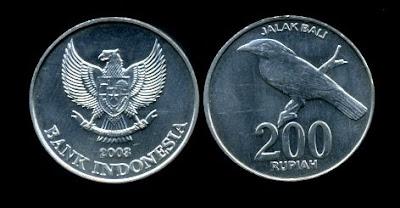 Rp 200 bergambar Jalak Bali