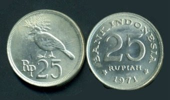 Uang Koin 25 Rupiah 1971